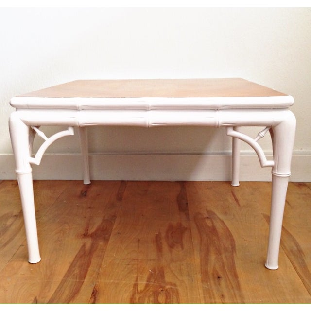 Hollywood Regency Bamboo Coffee Table - Image 5 of 7