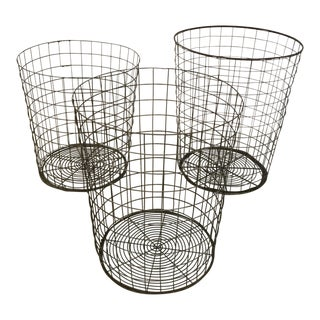 Vintage Wire Baskets - Set of 3