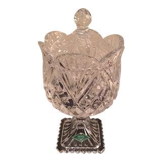 Beautiful Handcut Lidded Crystal Compote