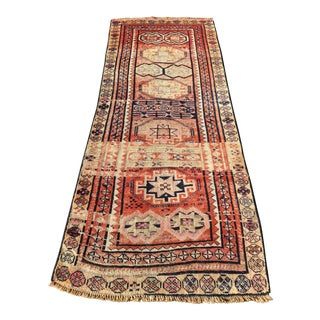 Antique Persian Kourdish Short Runner Rug - 3'x7'2""
