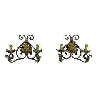 French Iron Sconces - a Pair