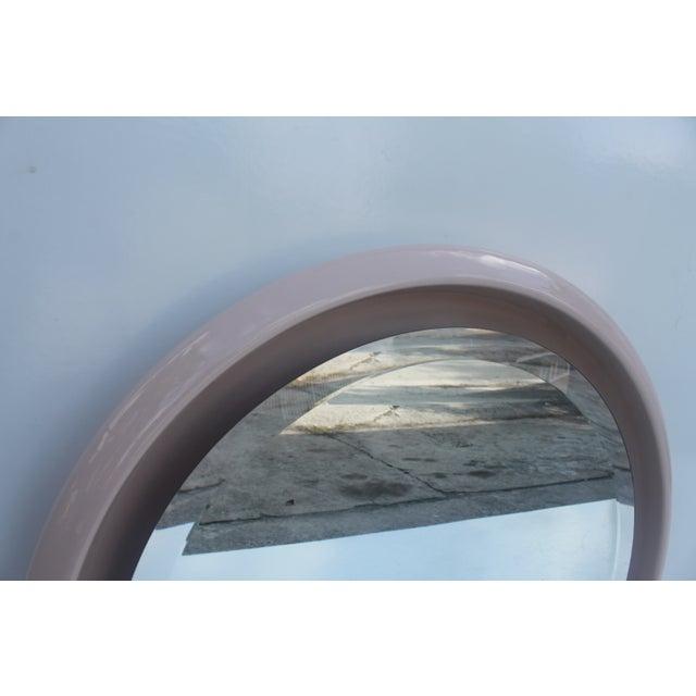 Vintage Ceramic Round Beveled Wall Mirror - Image 6 of 10