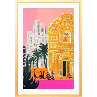 """Taj Metropolis"" Bright South America Gold Framed Art Print"