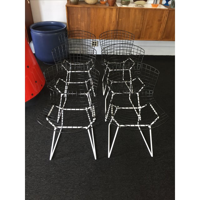 Harry Bertoia for Knoll Wire Chairs - Set of 6 - Image 8 of 8