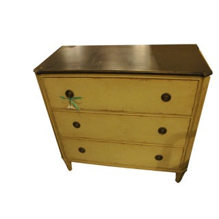 Swedish Paint Decorated Commode Chest