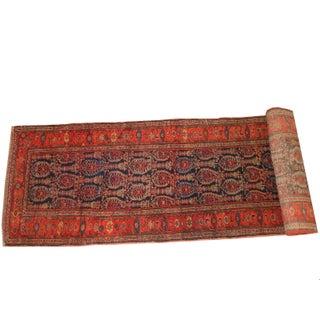 "Antique Persian Malayer Runner Rug - 17' x 3'4"""