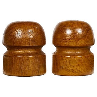 Barrel-Shaped Salt & Pepper Shakers - Pair