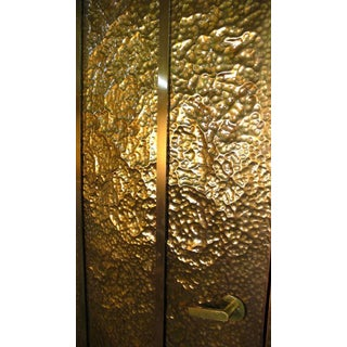 Custom Hammered Brass Doors