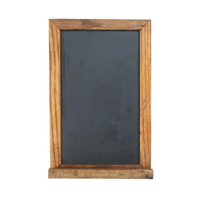 Slate Chalkboard with Oak Frame - Image 1 of 3