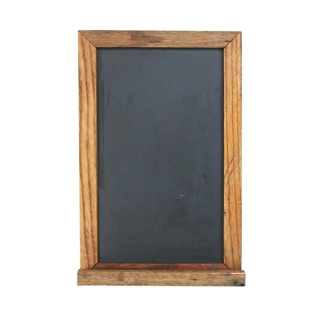 Image of Slate Chalkboard with Oak Frame