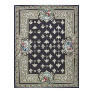 French Aubusson Design Hand Woven Wool Rug - 8' X 10'
