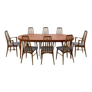 Koefoed Hornslet Eva Chairs & Faarup Dining Table - Set of 9