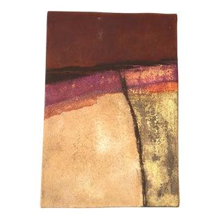 """Marcela Panasiti """"Purple Vein"""" Abstract Adobe Painting"""