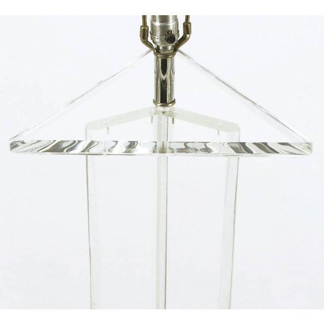 Image of Triangular Trefoil Lucite Floor Lamp