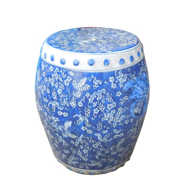 Chinese Blue White Porcelain Butterflies Stool - Image 2 of 4