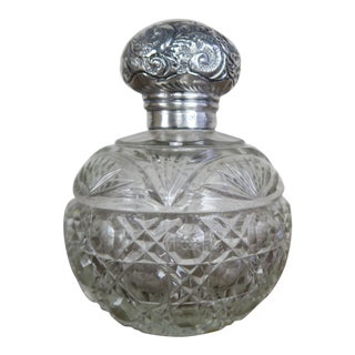Sterling English Crystal Perfume Bottle