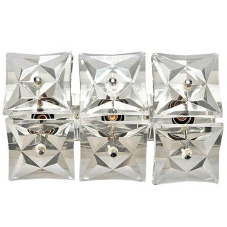Mid-Century Crystal Wall Mount Light Attributed to Kinkeldey