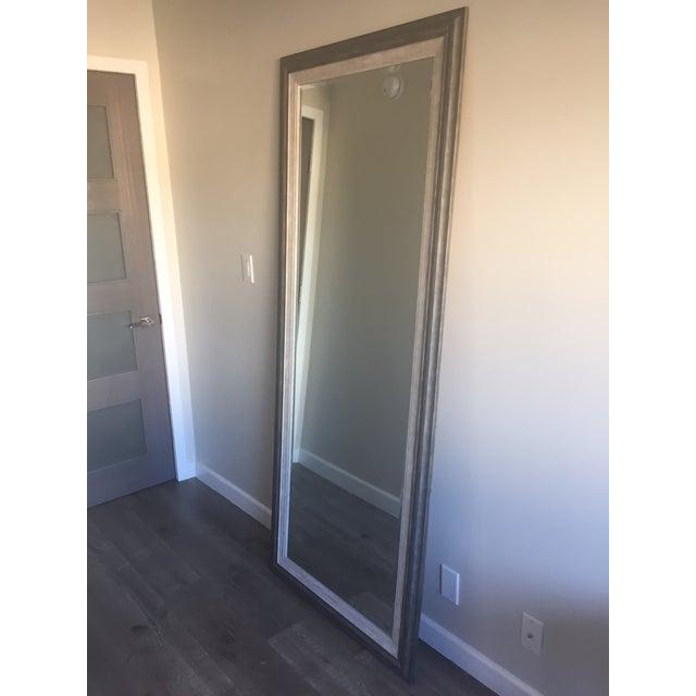 Image of Contemporary Gray Floor Mirror