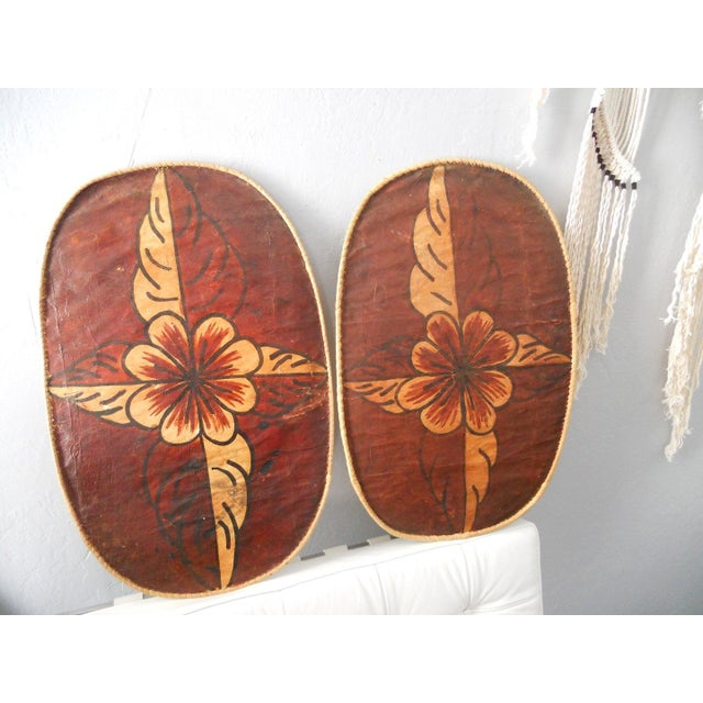 Floral Moroccan Wall Hangings - A Pair - Image 2 of 6