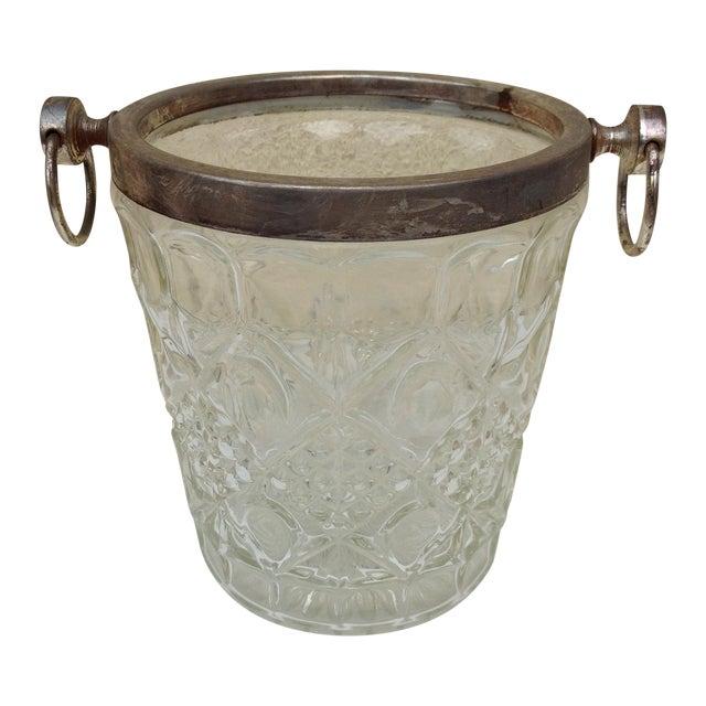 Mid Century Crystal Ice Bucket - Image 1 of 7