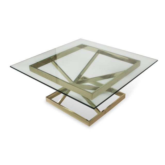 1980s Intersecting Angles Coffee Table - Image 7 of 9