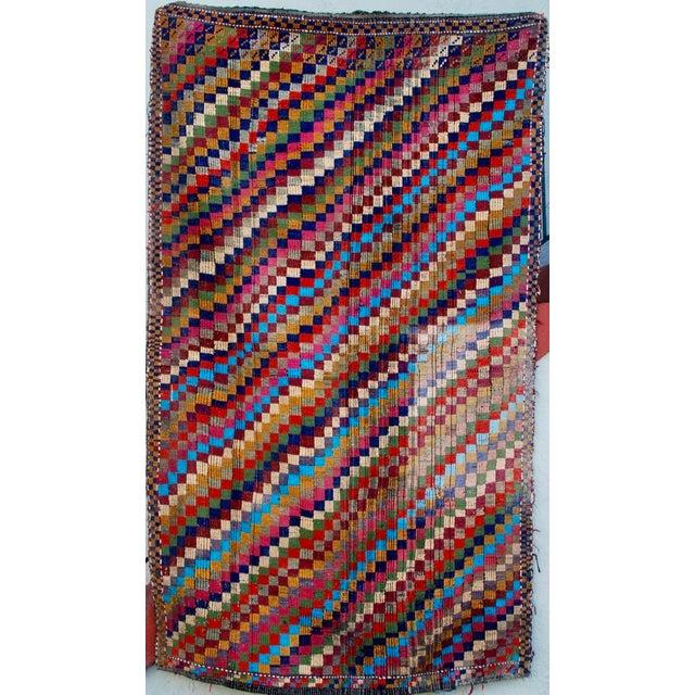 Image of Vintage Handmade Bohemian Kilim Rug - 5'3'' X 8'10''
