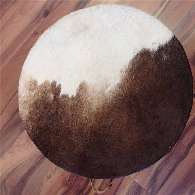 Cowhide Drum Side Table - Image 7 of 7