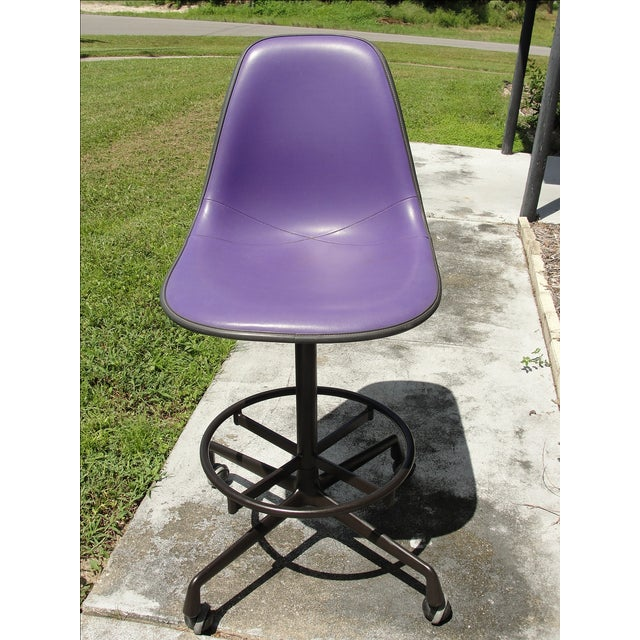 Mid-Century Eames Purple Stool by Herman Miller - Image 2 of 9