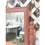 Image of Antique Pink Painted Shabby Chic Vanity & Mirror