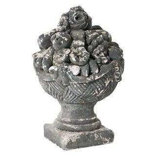 Mid Century Cast Stone Cornucopia