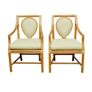 McGuire Rattan Armchairs- A Pair