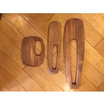 Image of Wooden Mid-Century Wall Decor - Set of Three