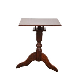Mid 19th Century Tindalo Wood Square Top Pedestal Table