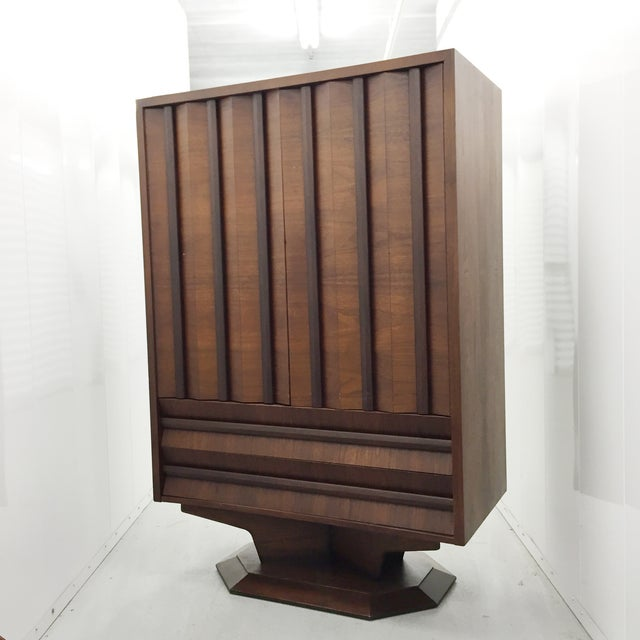 Mid-Century Wood Wardrobe/Armoire - Image 2 of 5