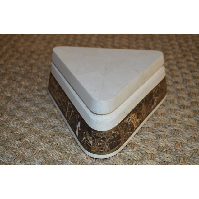Triangle Tessellated Stone Trinket Box - Image 2 of 11