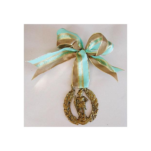 English Brass Horse Ornaments - Set of 3 - Image 5 of 6