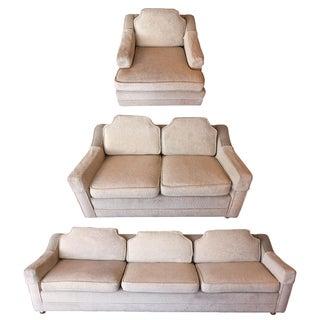 Mid-Century 3 Piece Sofa Set