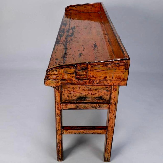 Chinese Painted and Lacquered Three-Drawer Console Table - Image 6 of 11