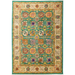 """Eclectic, Hand Knotted Area Rug - 6' 2"""" x 8' 10"""""""