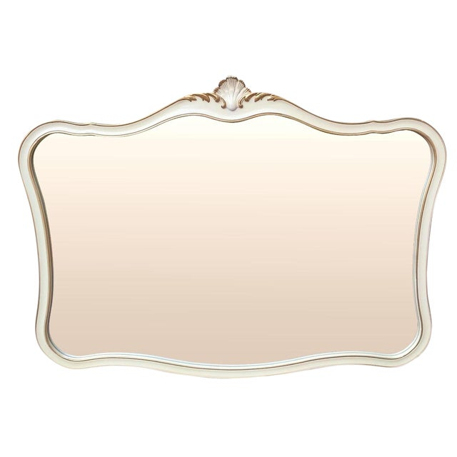 Cream and Gold Rocaille Style Mirror by Drexel 1965 - Image 1 of 6