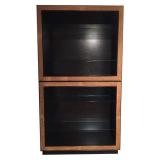 Rare Vintage Paul Frankl Cork Trimmed Bookcase