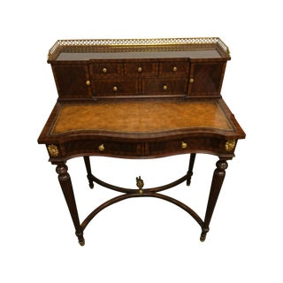 Maitland-Smith 1800's Writing Desk with Cane Chair