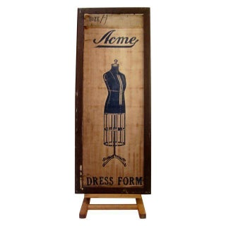 Industrial Mannequin Shipping Crate Wall Art