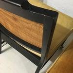 Image of Vintage Cane Back Velvet Chairs - Set of 4