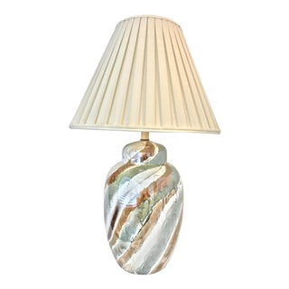 Irridescent Drip Glazed Hollywood Modern Lamp
