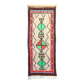 "Vintage Azilal Moroccan Rug - 3'2"" x 7'7"""