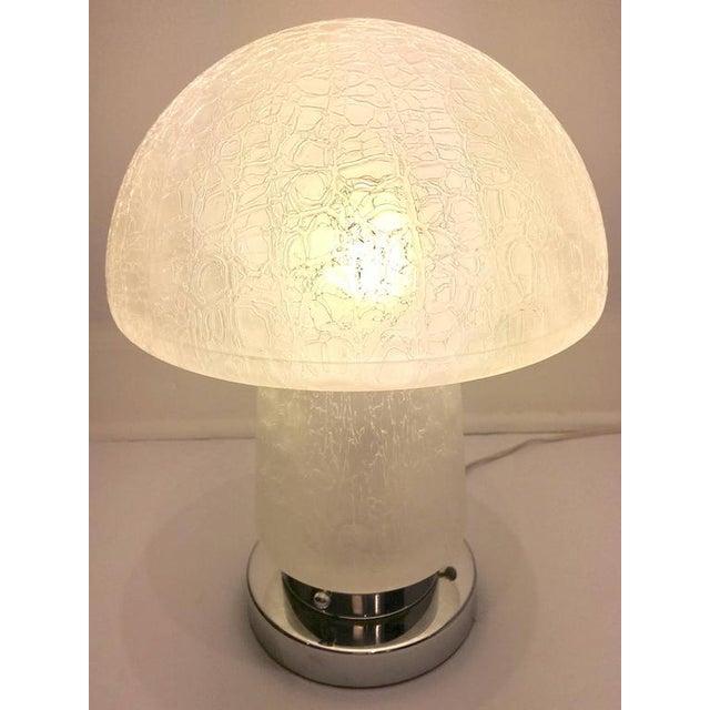 Italian Murano Glass and Chrome Mushroom Lamp - Image 3 of 8
