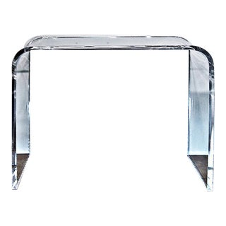 Lucite Acrylic Waterfall Console Table