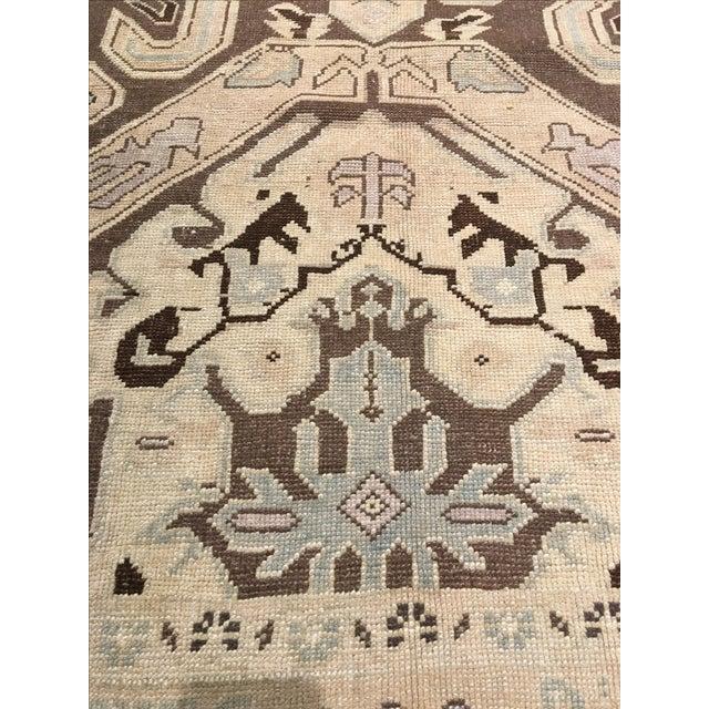 """Vintage Turkish Oushak Rug - 6' X 9'5"""" - Image 7 of 8"""