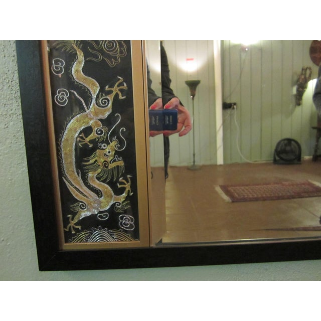 Asian Triptych Silk Panel Mirror - Image 5 of 10
